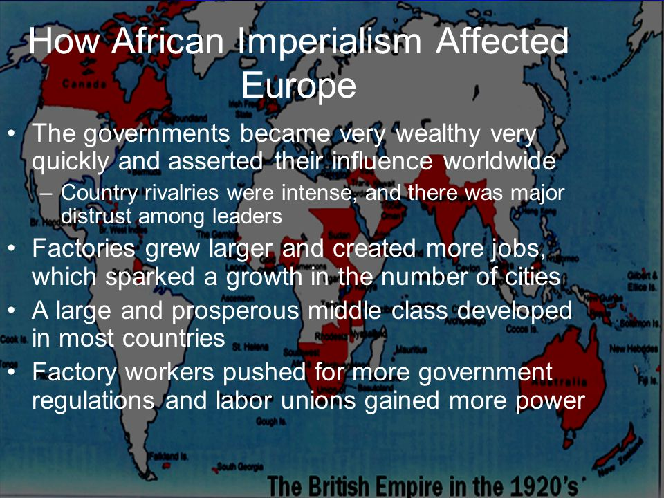 How African Imperialism Affected Europe