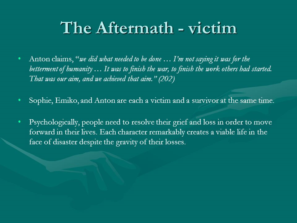 The Aftermath - victim