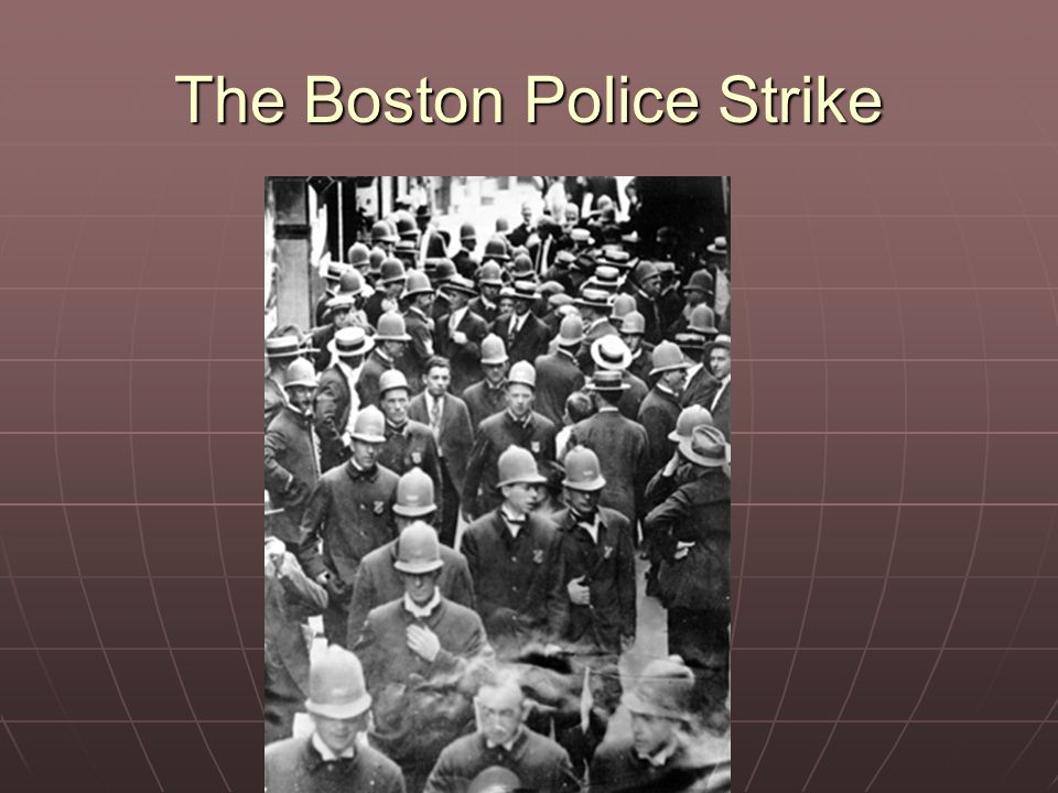 The Boston Police Strike