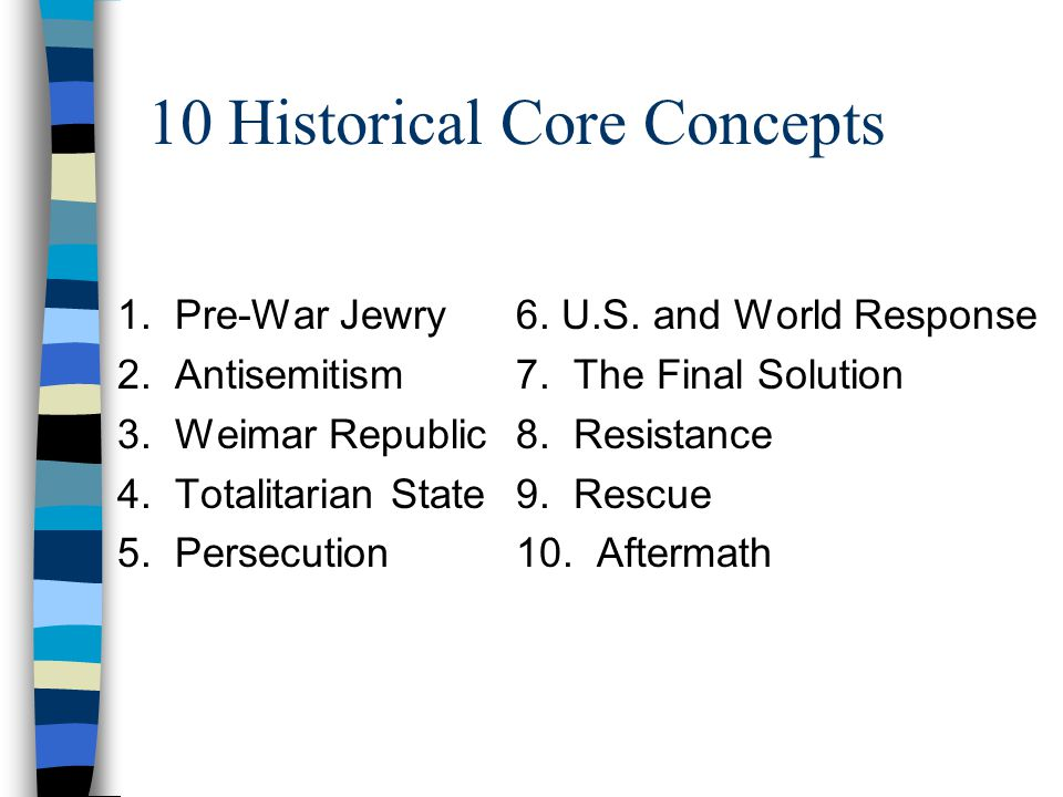 10 Historical Core Concepts