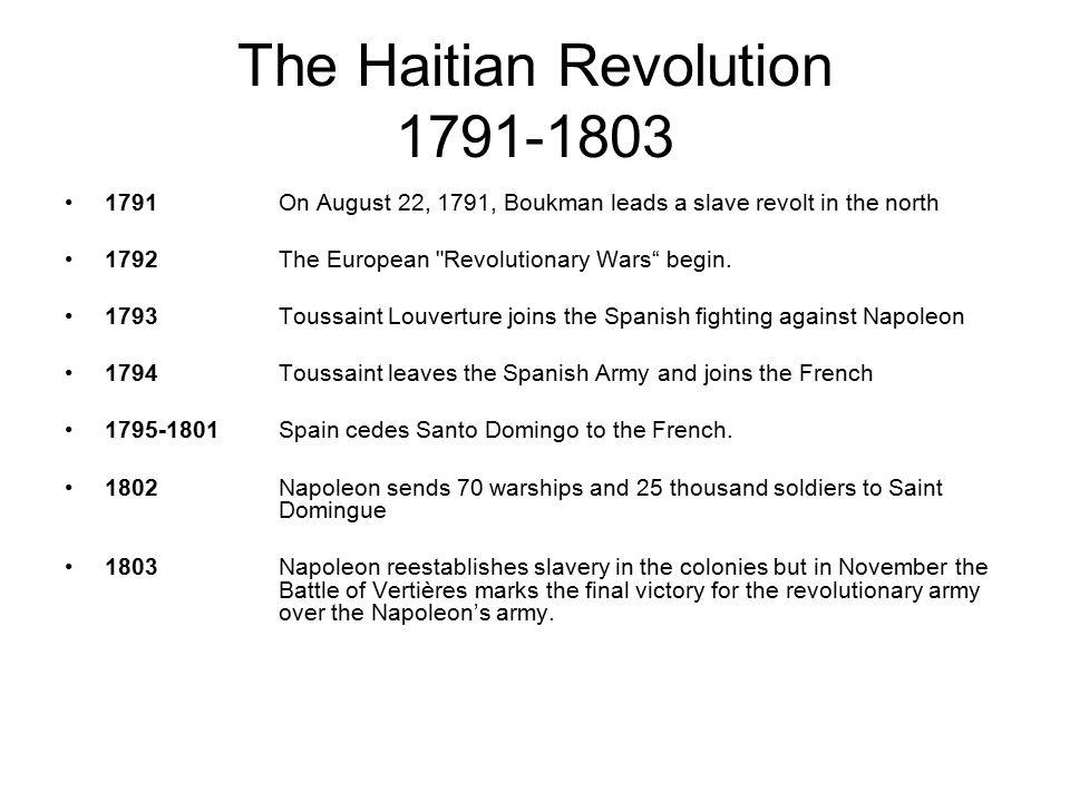 The Haitian Revolution 1791-1803