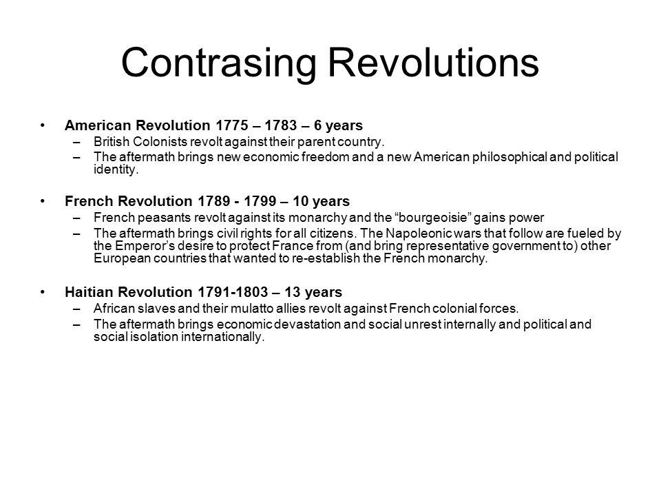 Contrasing Revolutions