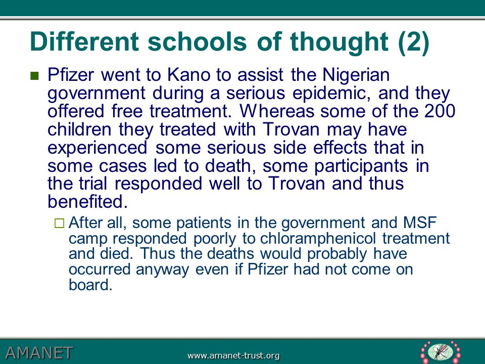 Different schools of thought (2)