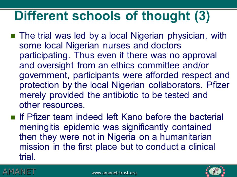 Different schools of thought (3)