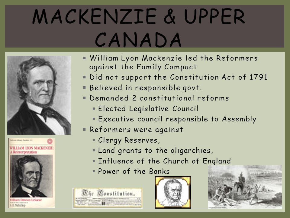 Mackenzie & Upper Canada