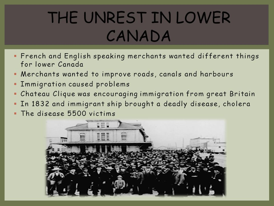 THE UNREST IN LOWER CANADA