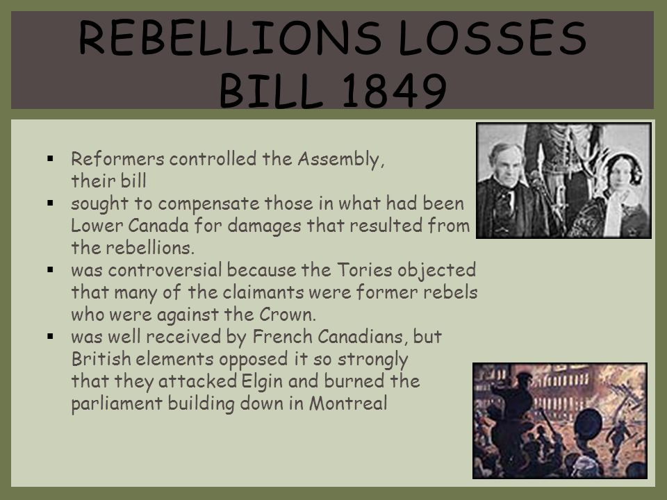 Rebellions Losses Bill 1849