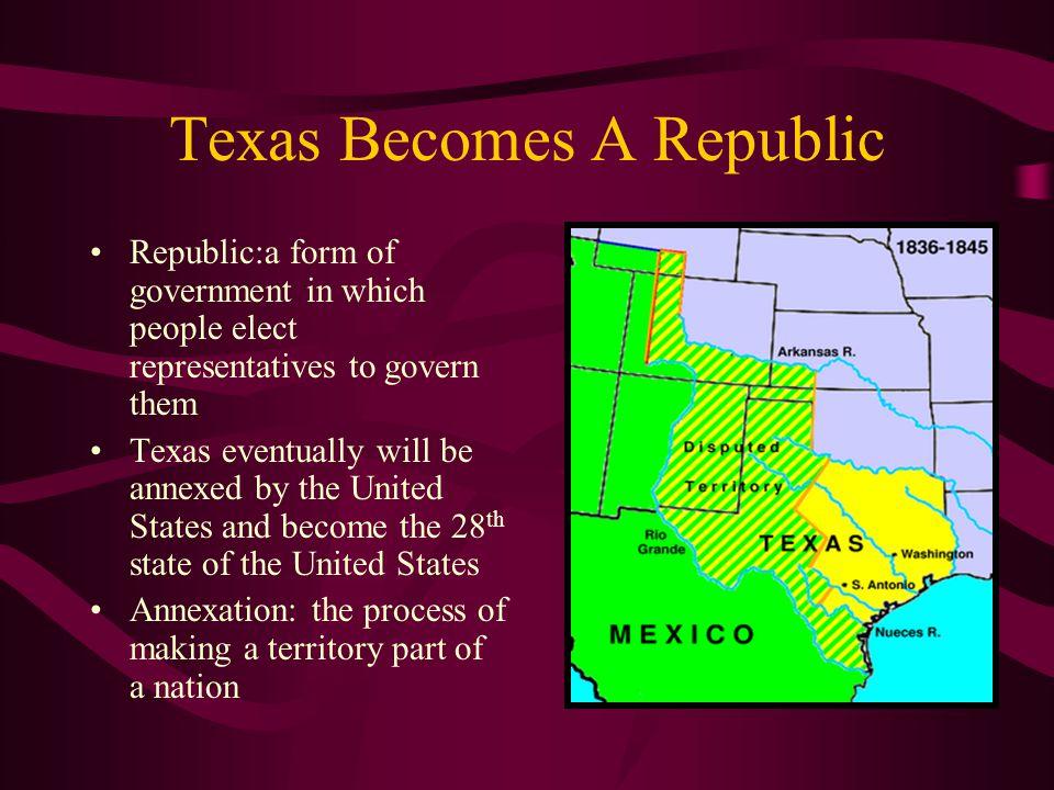 Texas Becomes A Republic