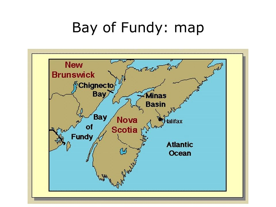 Bay of Fundy: map 2.416