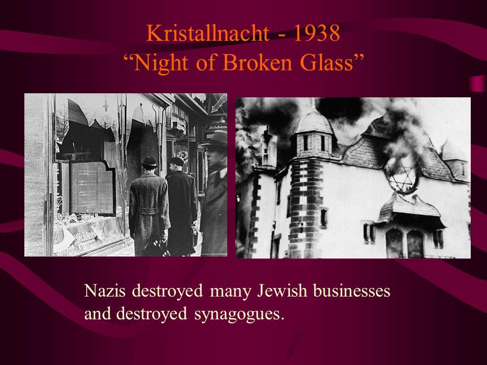 Kristallnacht - 1938 Night of Broken Glass