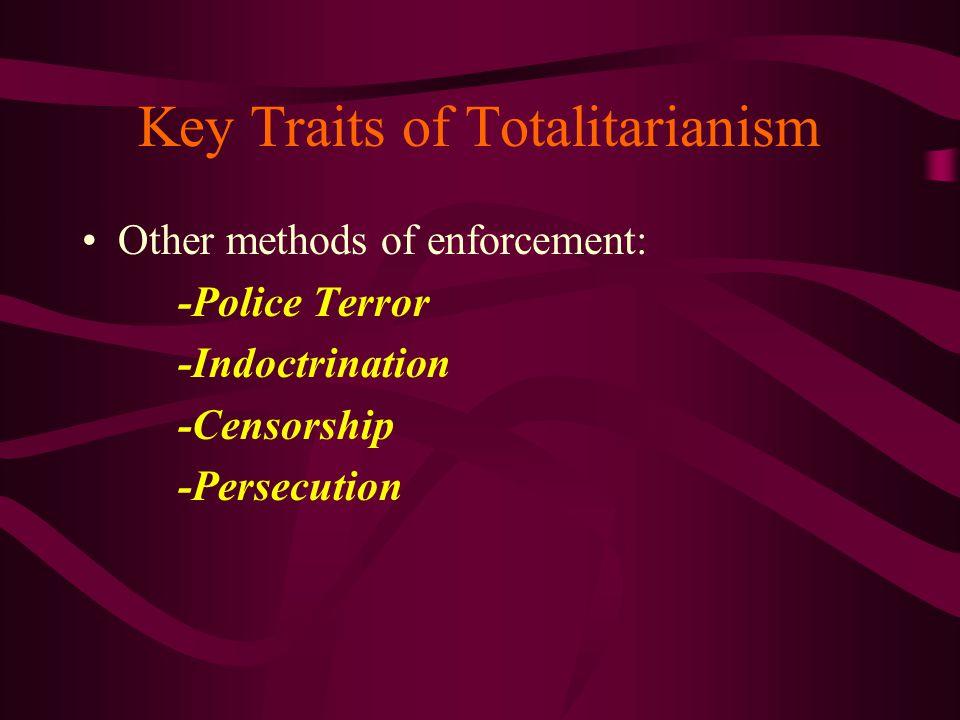 Key Traits of Totalitarianism