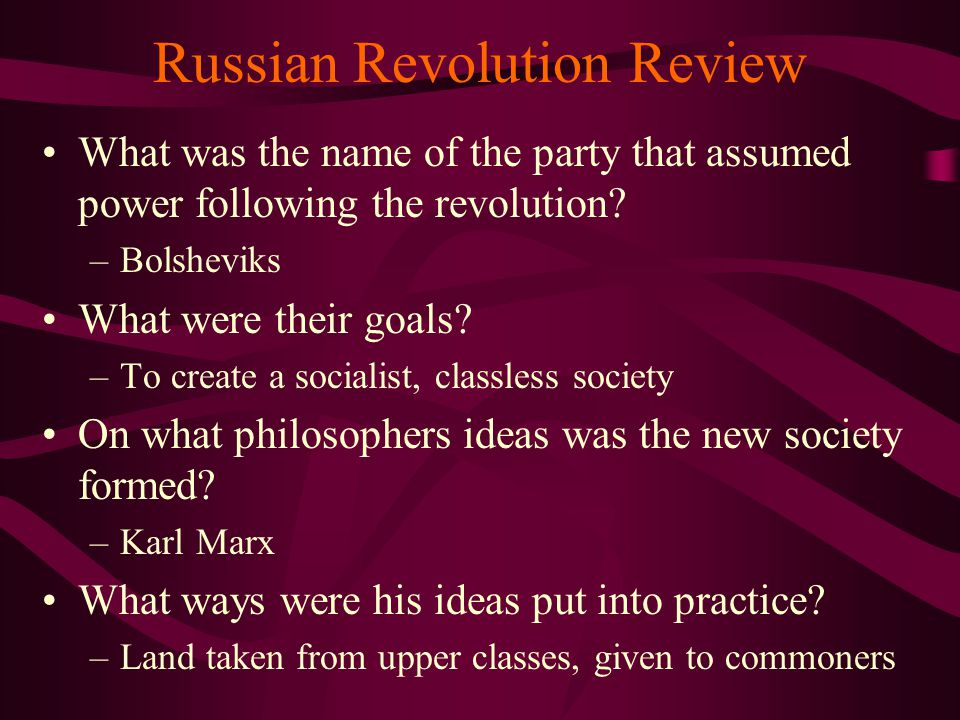 Russian Revolution Review