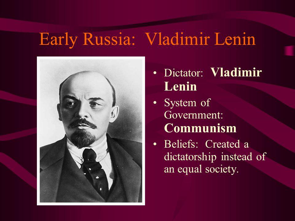 Early Russia: Vladimir Lenin
