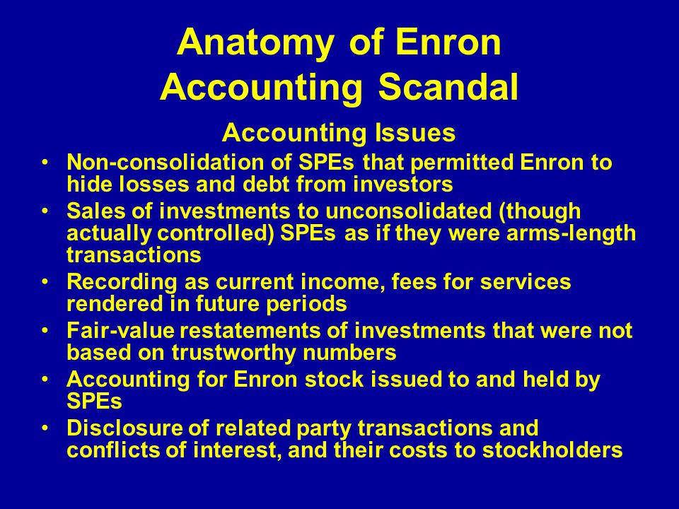 auditing issues in enron case essay Free essay: 1 auditing issues in enron case independent needed for the  houston office of andersen, an audit partner that understands the role.