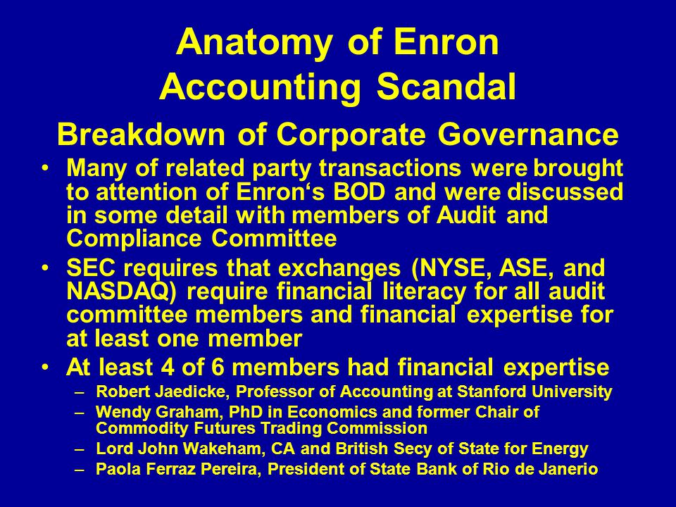 accounting with enron essay