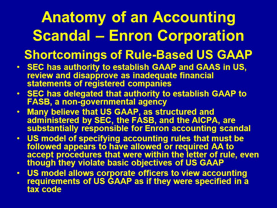 Anatomy of an Accounting Scandal – Enron Corporation