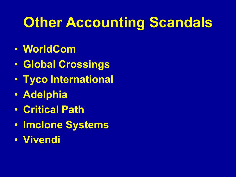 List of corporate collapses and scandals