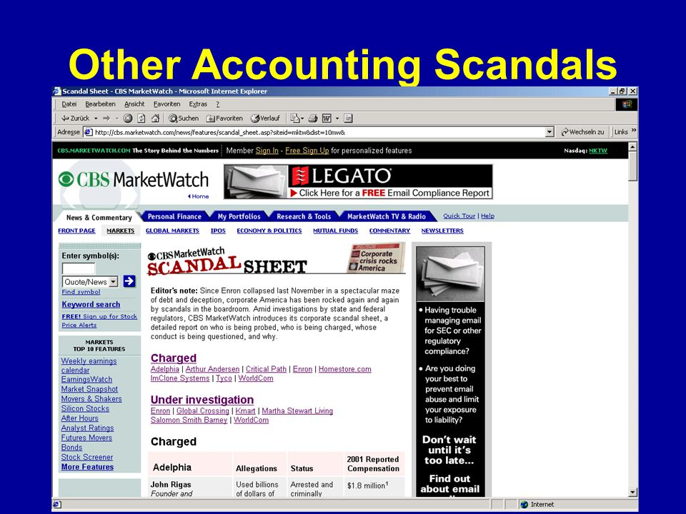 Other Accounting Scandals
