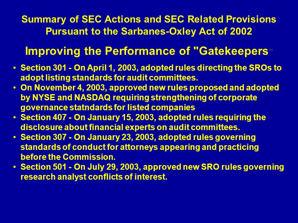 Improving the Performance of Gatekeepers