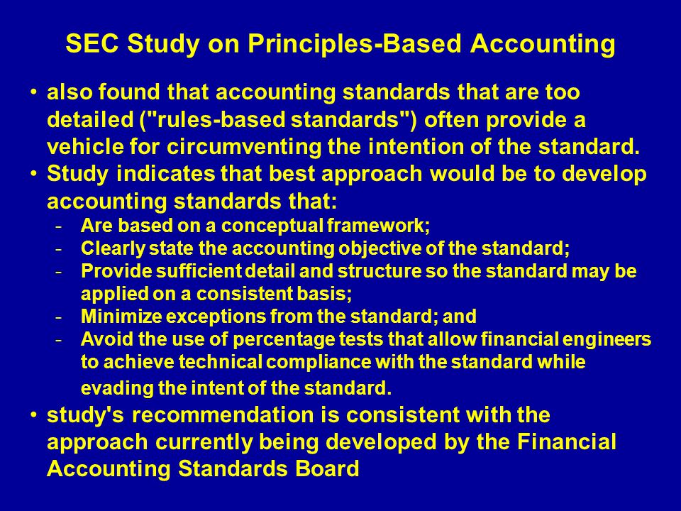 SEC Study on Principles-Based Accounting