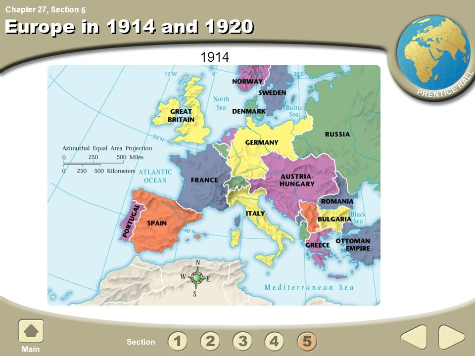 5 Europe in 1914 and 1920 1914