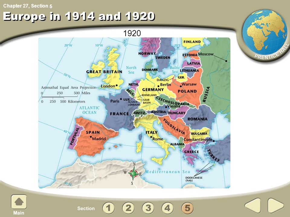 5 Europe in 1914 and 1920 1920