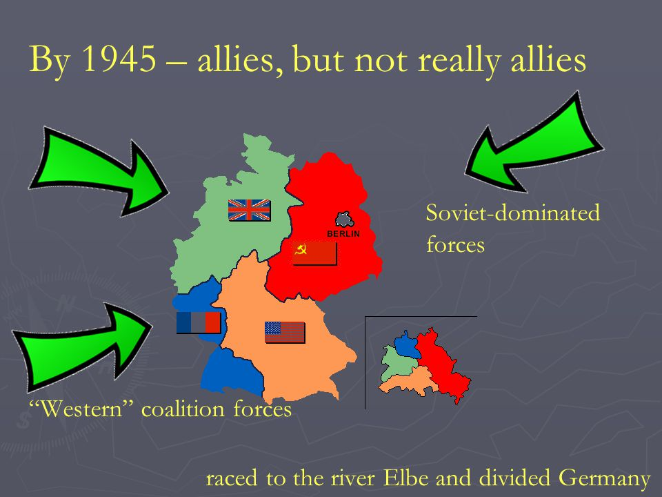 By 1945 – allies, but not really allies