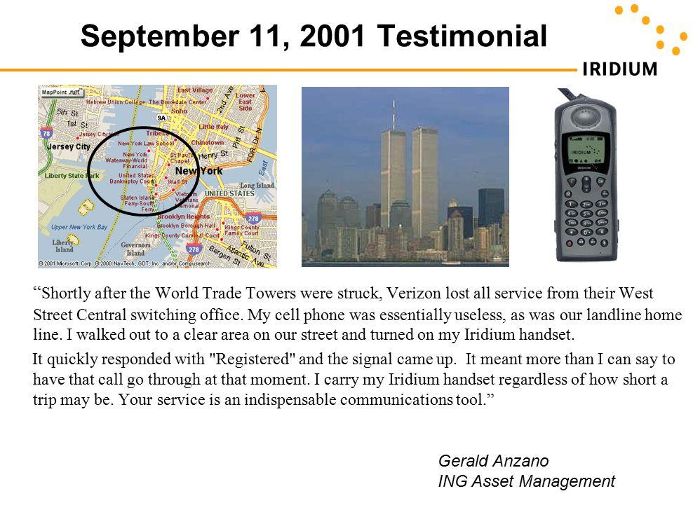 September 11, 2001 Testimonial