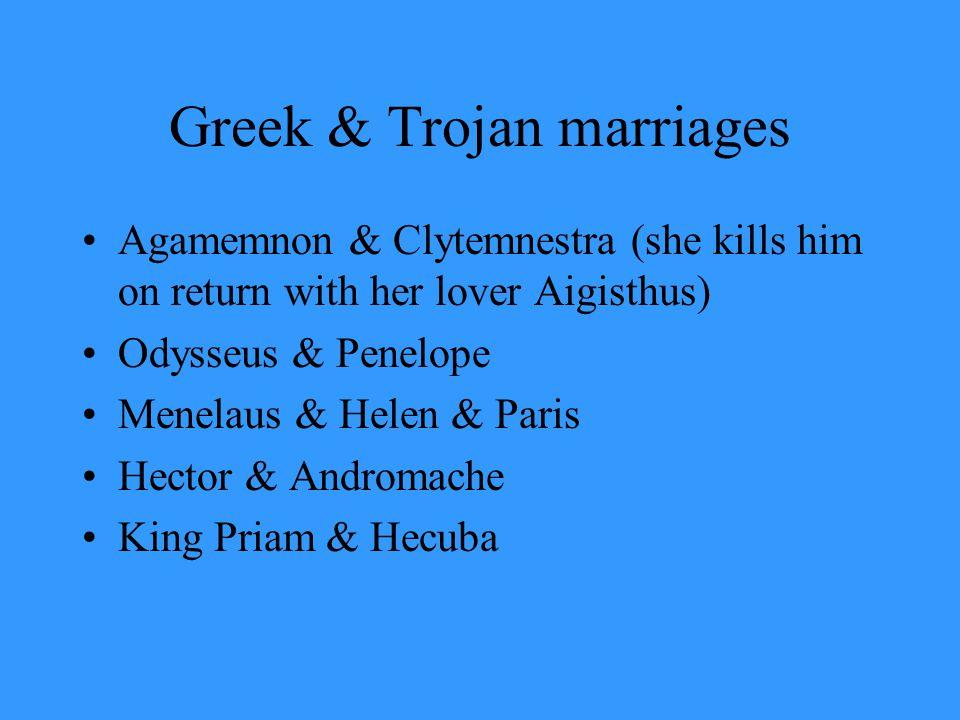 Greek & Trojan marriages