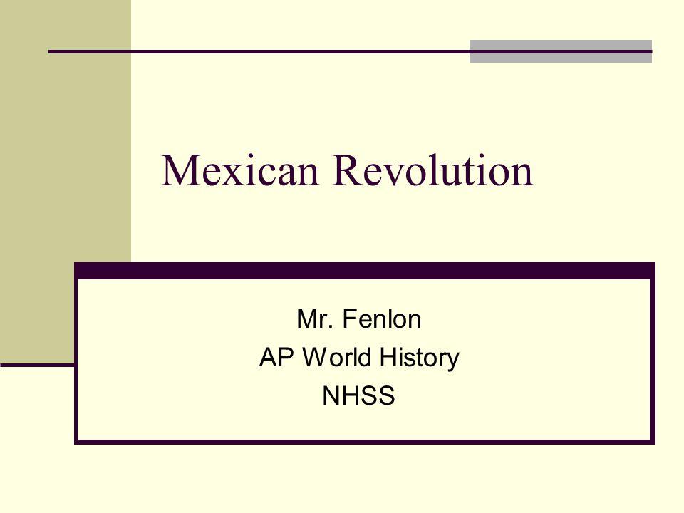 Mr. Fenlon AP World History NHSS