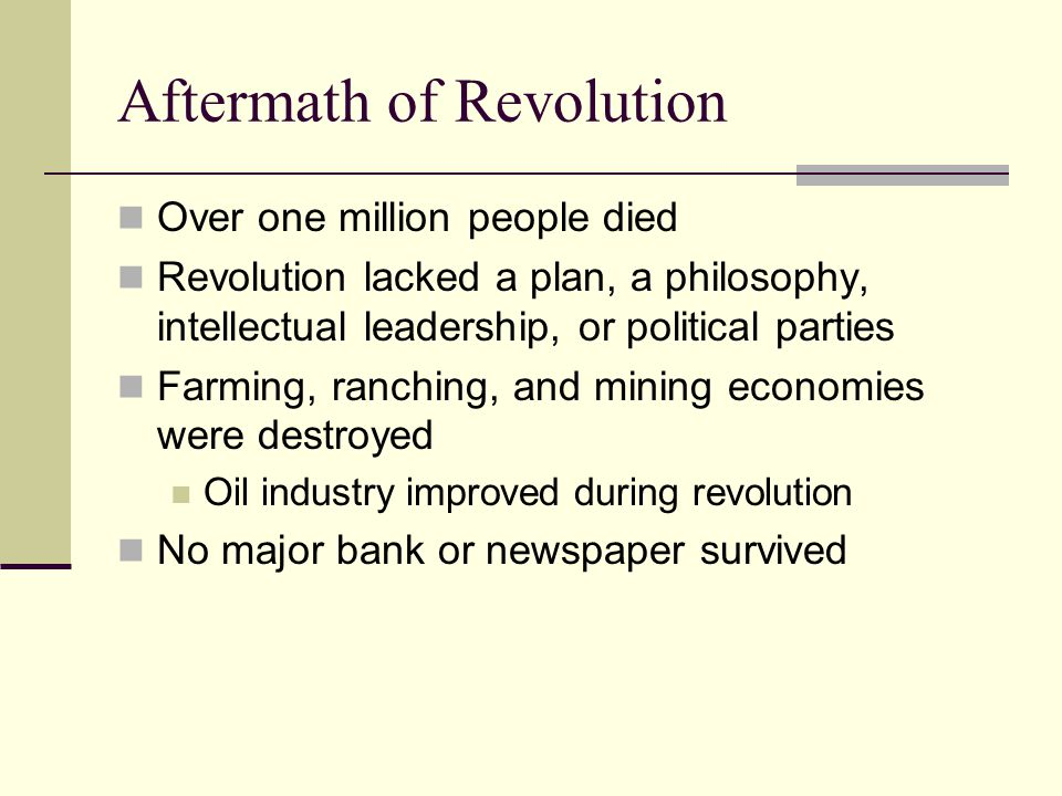 Aftermath of Revolution