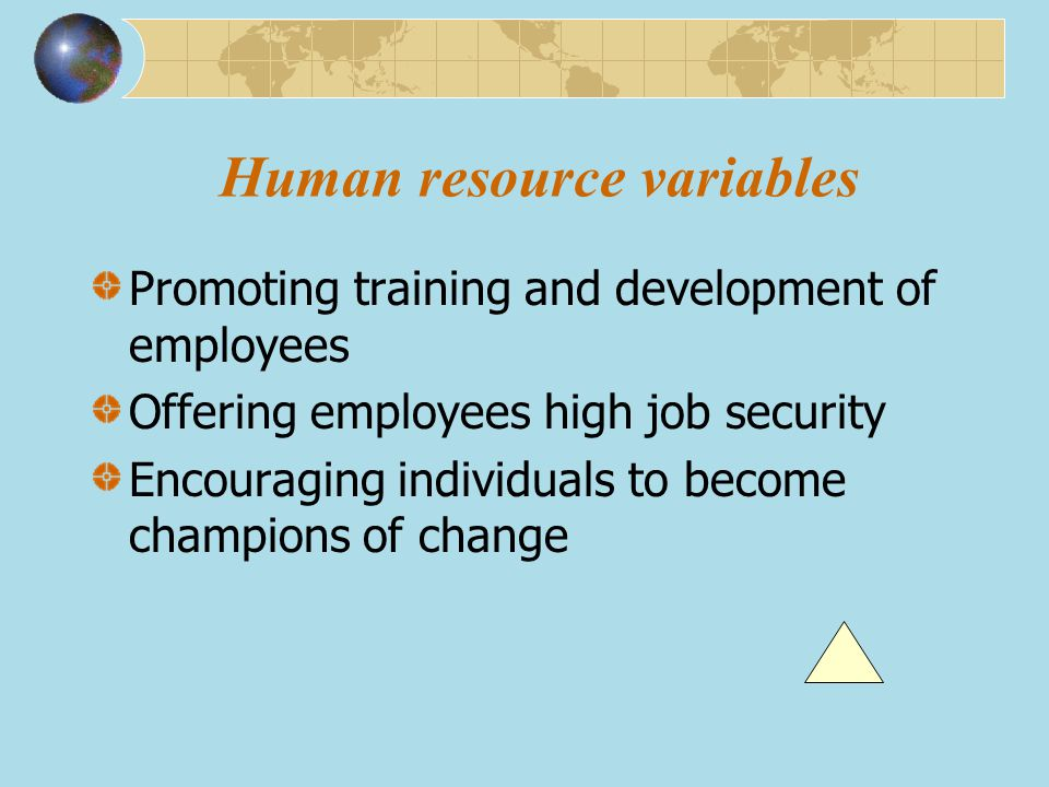 Human resource variables