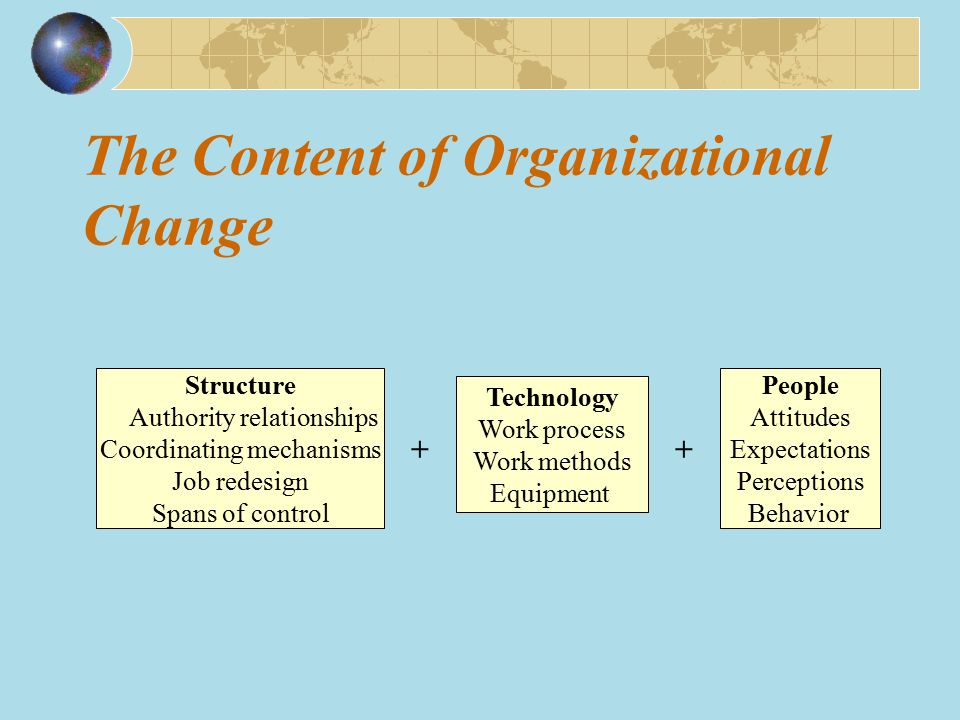 The Content of Organizational Change
