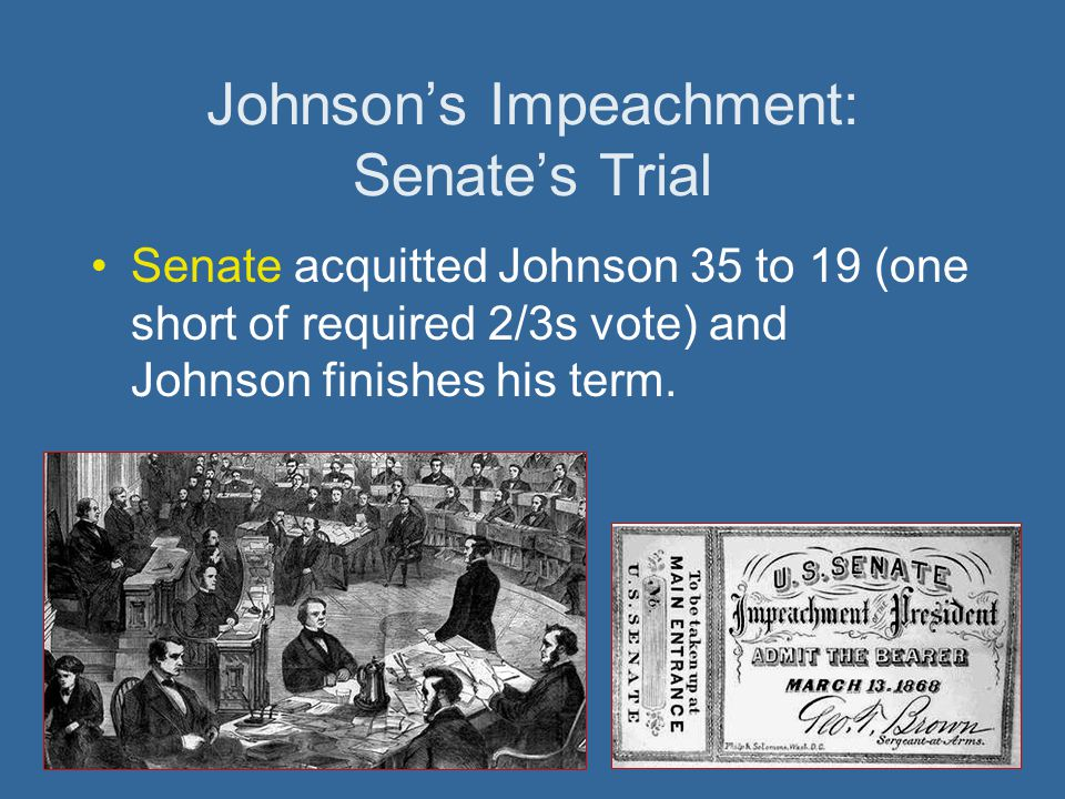 Johnson's Impeachment: Senate's Trial