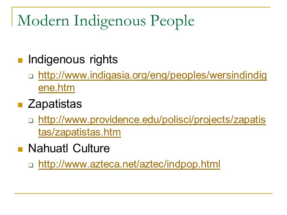 Modern Indigenous People