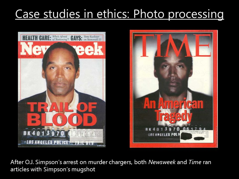 Case studies in ethics: Photo processing
