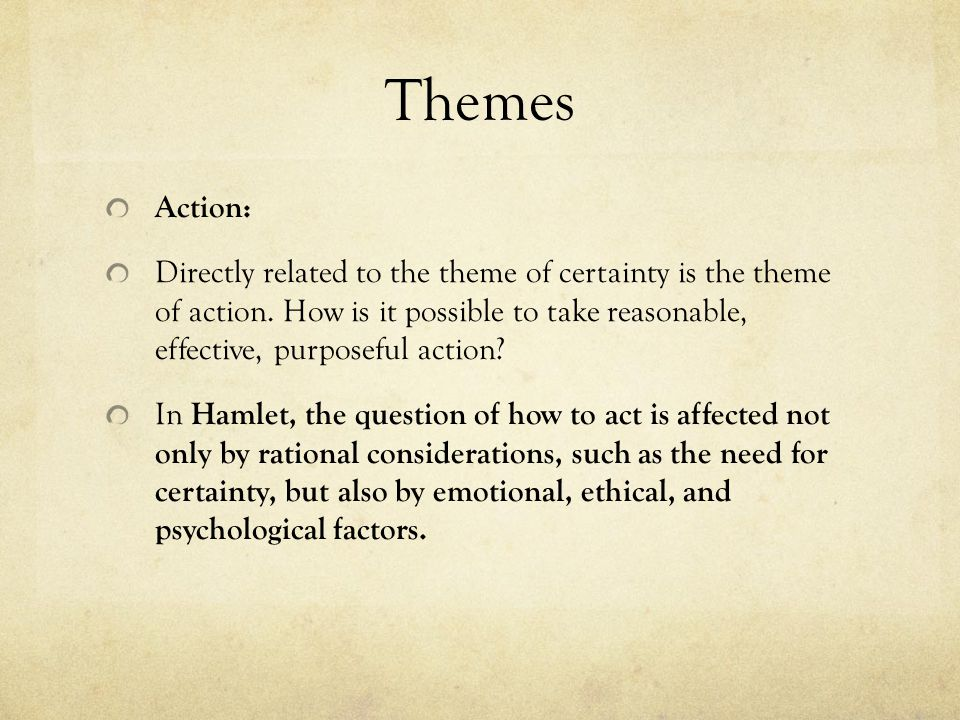 Themes Action: