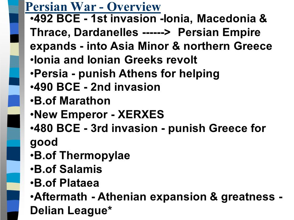 Persian War - Overview