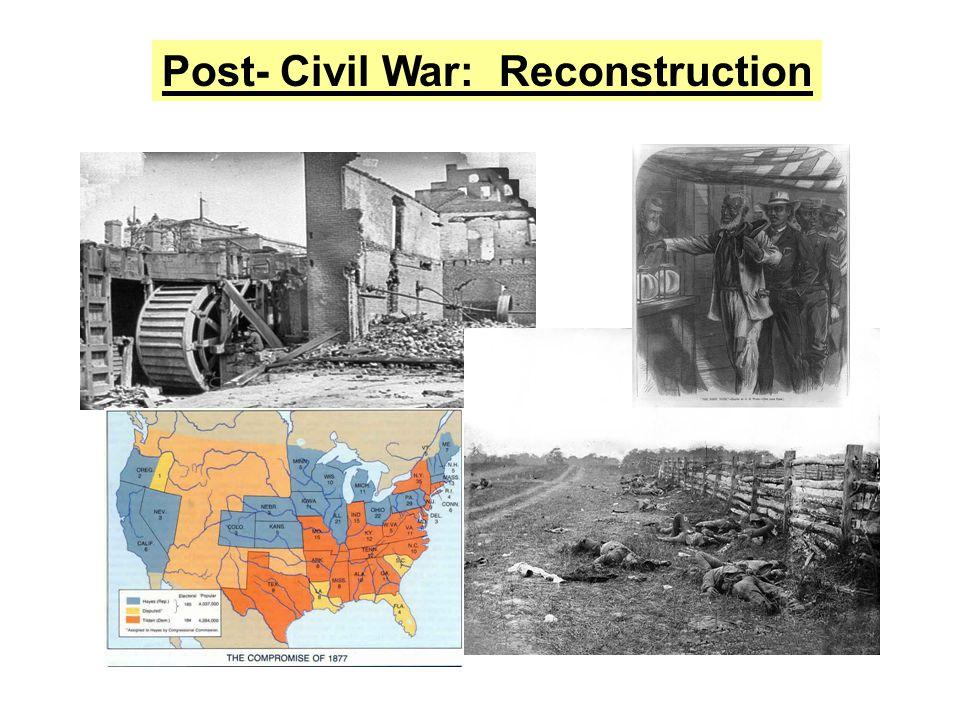 Post- Civil War: Reconstruction