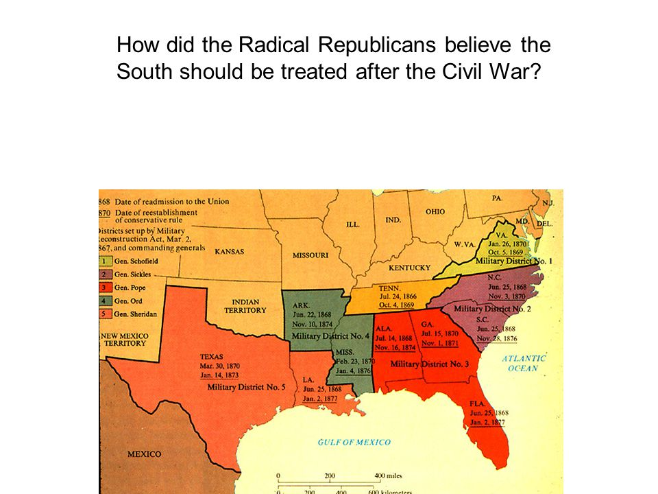How did the Radical Republicans believe the