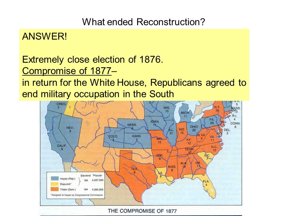 What ended Reconstruction