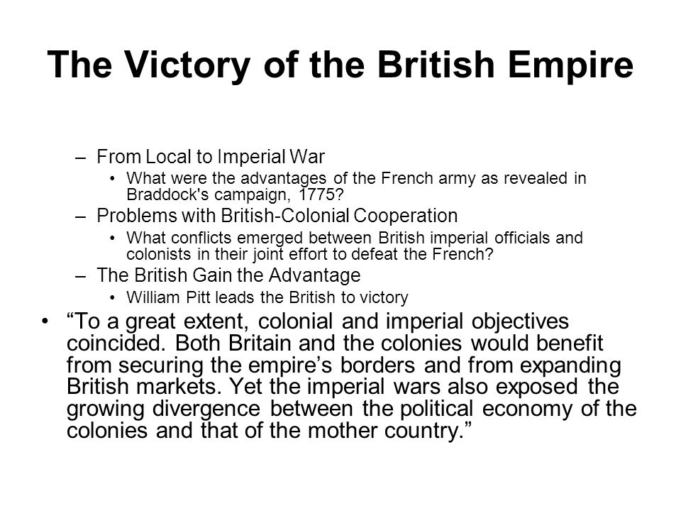 The Victory of the British Empire