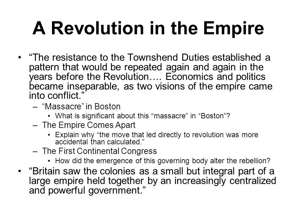 A Revolution in the Empire