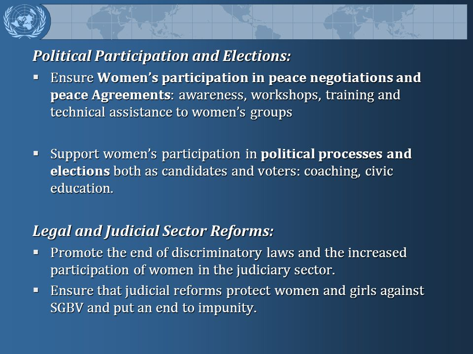 Political Participation and Elections:
