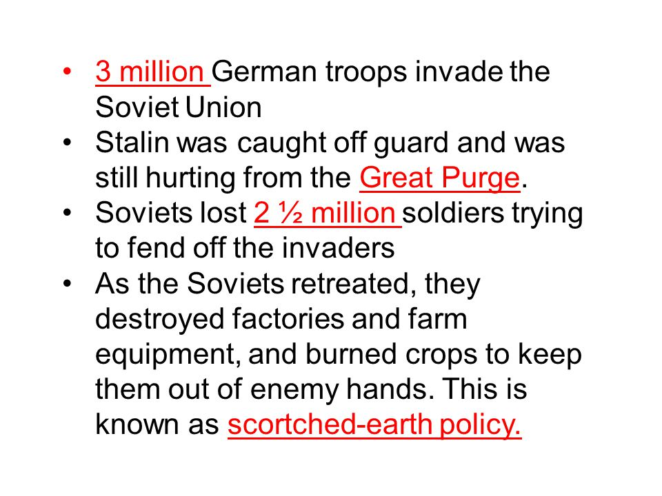 3 million German troops invade the Soviet Union