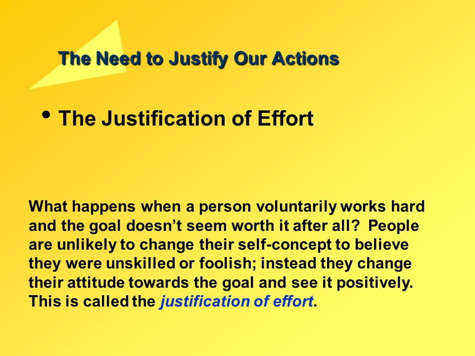 The Need to Justify Our Actions