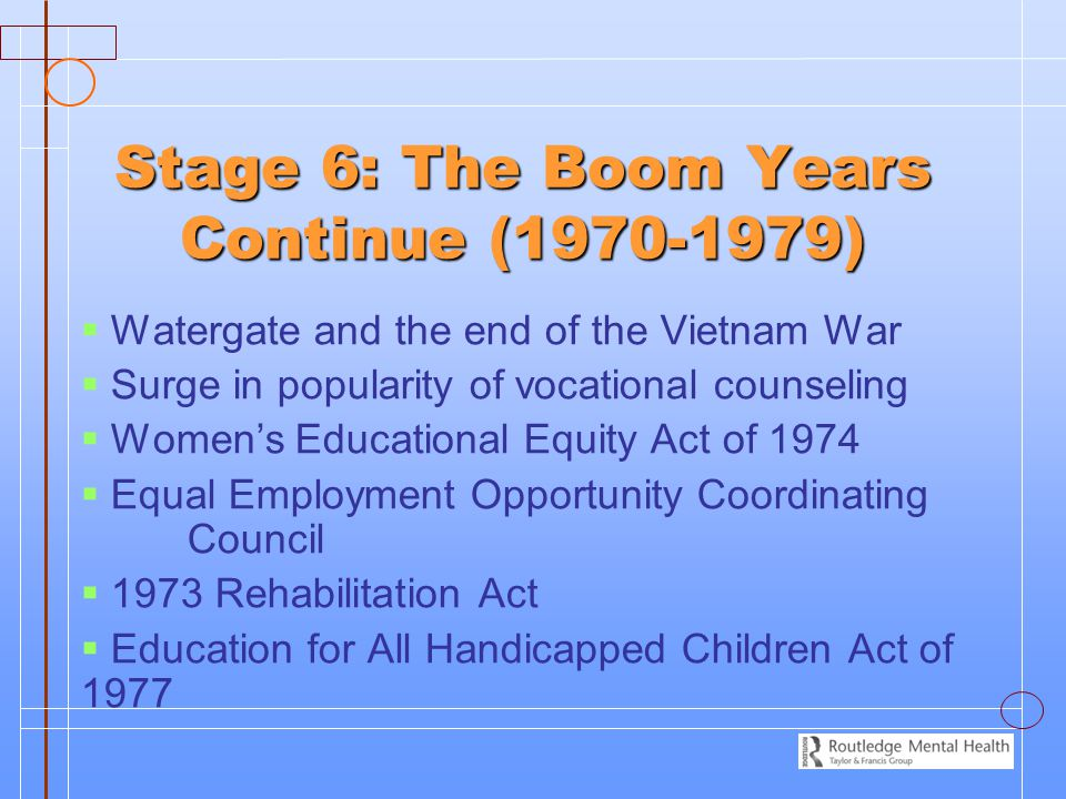 Stage 6: The Boom Years Continue (1970-1979)
