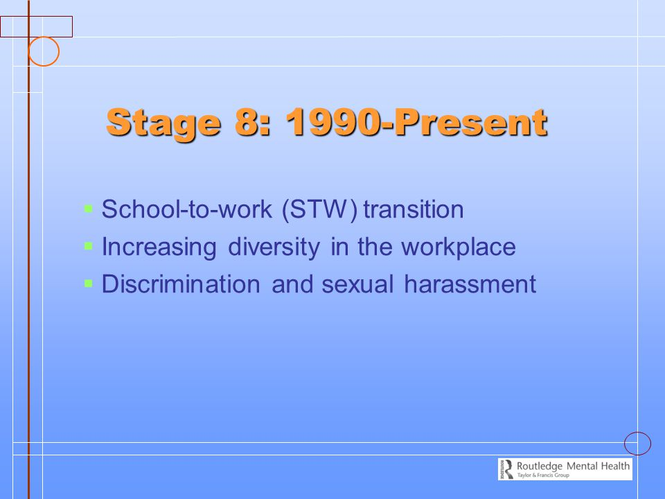 Stage 8: 1990-Present School-to-work (STW) transition