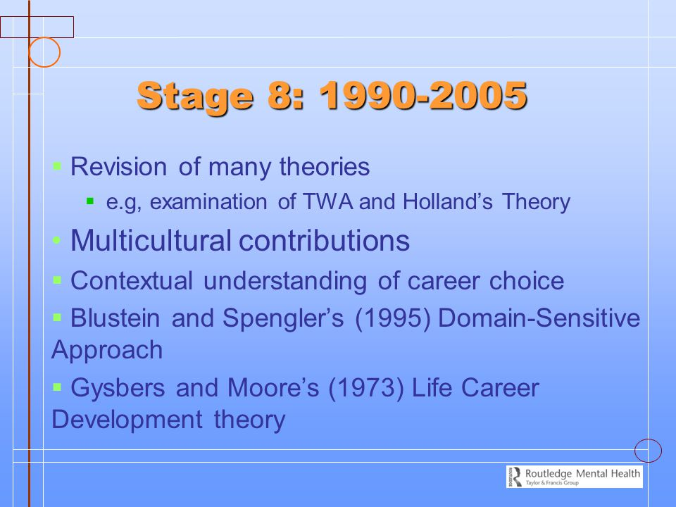Stage 8: 1990-2005 Multicultural contributions