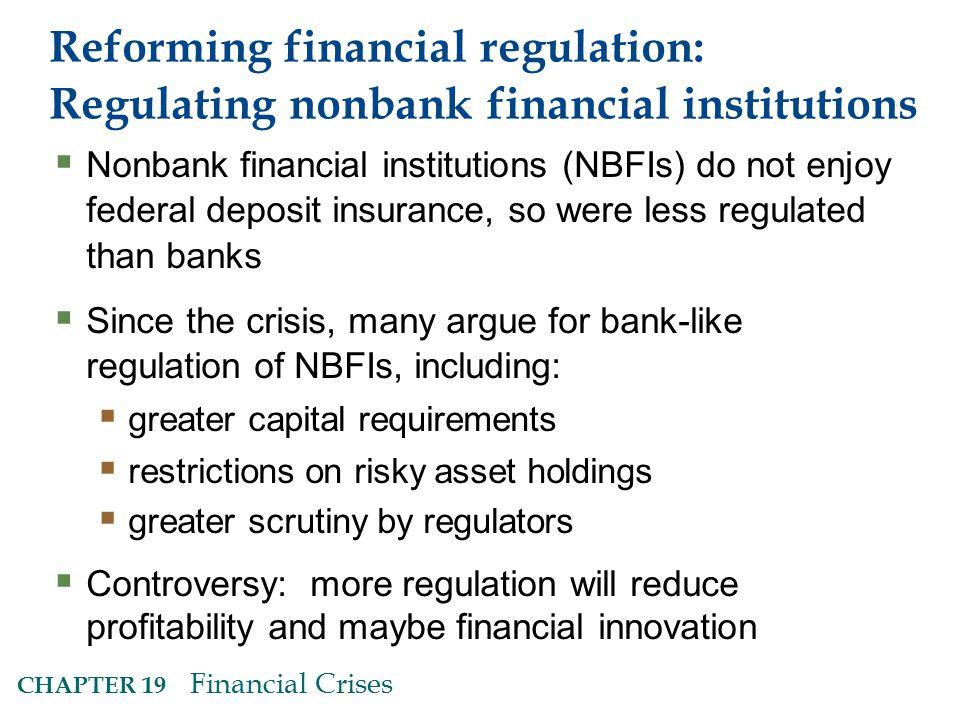Reforming financial regulation: Regulating nonbank financial institutions